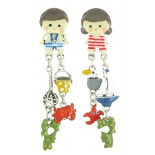 Taratata La Baignade Earrings(Crab- Non Identical)