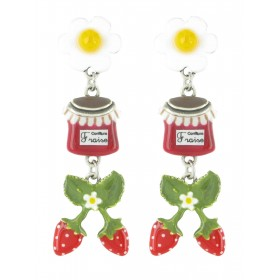 Taratata Grenadine Earrings (Strawberry Jam)