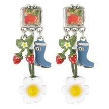 Taratata Grenadine Earrings (Apple)