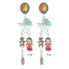 Taratata Poupon Earrings(Stroller, Sleeper Doll)