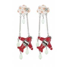 Taratata Transatlantic Earrings (Plane)