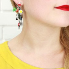 Taratata A la Francaise Earrings (Wheelbarrow Non Identical)