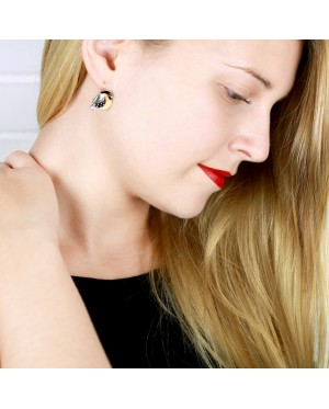 Taratata Sur le fil Earrings(Black)