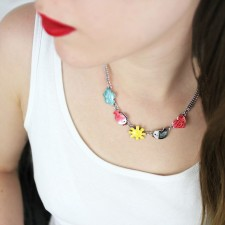 Taratata Taraboum Necklace(Heart & Fish)