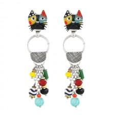 Taratata Andy Earrings(Cat head)
