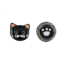 Taratata Taraboum Earrings(Cat & Paw)